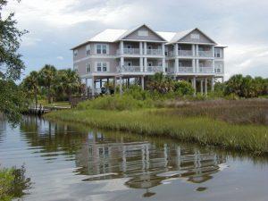 Florida Waterfront Condo Horseshoe Beach Exterior View