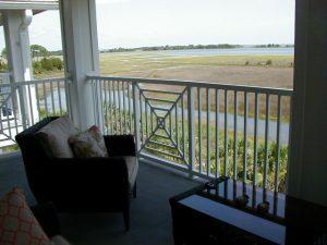 Florida Waterfront Condo Horseshoe Beach Deck View