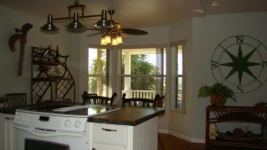 Florida Waterfront Home with Gulf View - Horseshoe Beach, Florida - Compass Realty of North Florida - kitchen and dining